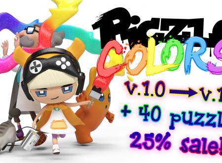 Piczle Colors: nuovi 40 puzzle sono disponibili nella versione 1.1.0, ora sui Nintendo Switch europei