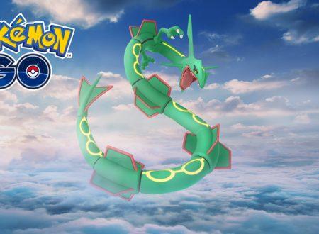 Pokèmon GO: Rayquaza sarà disponibile nei raid speciali del weekend di settimana prossima