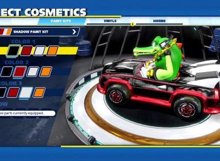 Team Sonic Racing: pubblicati nuovi video sulla customizzazione e lo scenario Bingo Party