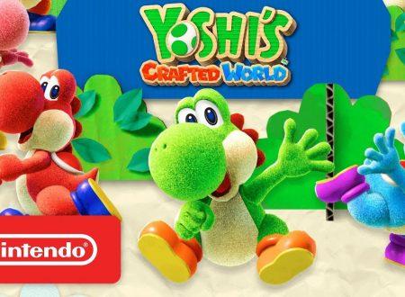 Yoshi's Crafted World: pubblicato il trailer di lancio del titolo su Nintendo Switch
