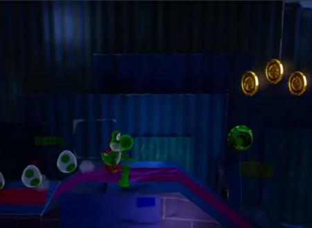"Yoshi's Crafted World: svelato in video lo scenario ""Be Afraid of the Dark"""