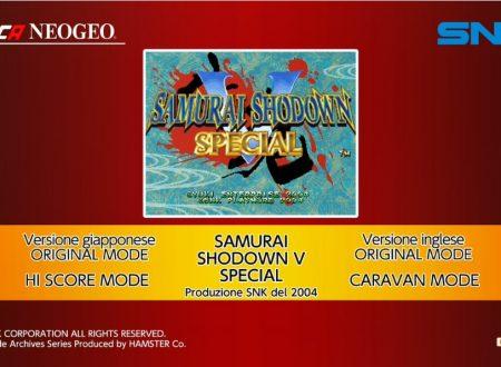 ACA NEOGEO Samurai Shodown V Special: uno sguardo in video al titolo dai Nintendo Switch europei