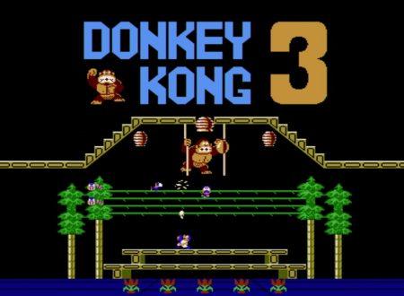 Arcade Archives Donkey Kong 3, il titolo è in arrivo il 5 aprile sull'eShop di Nintendo Switch