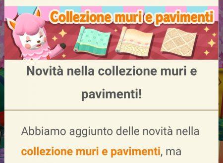 Animal Crossing: Pocket Camp: disponibili delle novità nella collezione muri e pavimenti