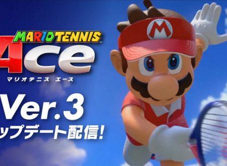 Mario Tennis Aces: il titolo aggiornato alla versione 3.0.0 sui Nintendo Switch europei
