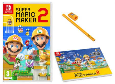 Super Mario Maker 2: il titolo è in preorder sul Nintendo UK Store con Carpenters Pad e Pencil Set