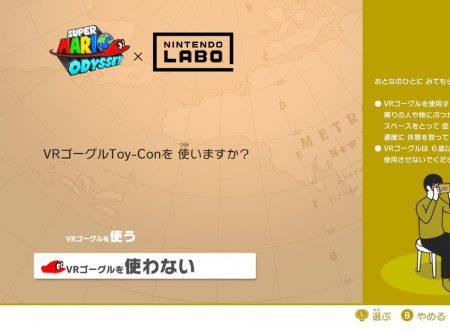 Super Mario Odyssey: la nuova modalità VR sarà disponibile anche senza il visore di Nintendo Labo