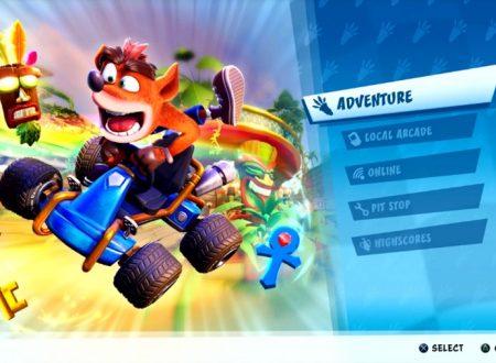 Crash Team Racing Nitro-Fueled: pubblicato un video dedicato alla modalità Avventura