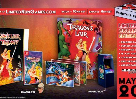Dragon's Lair Trilogy: annunciata la versione retail del titolo grazie a Limited Run Games