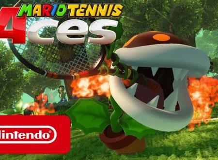 Mario Tennis Aces: svelato l'arrivo della Pianta Piranha falò come personaggio di giugno
