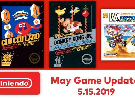 Nintendo Switch Online: Donkey Kong Jr., VS. Excitebike e Clu Clu Land sono in arrivo il 15 maggio