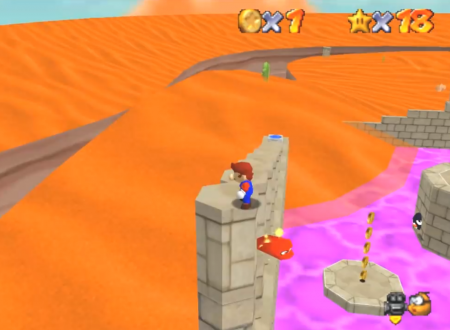 Super Mario Odyssey: il Regno delle Sabbie ricreato in Super Mario 64 grazie ad una mod