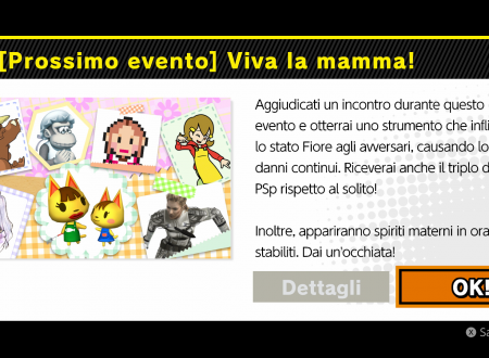 Super Smash Bros. Ultimate: svelato il nuovo l'evento: Viva la mamma