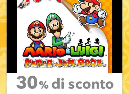 My Nintendo: nuovi sconti per Mario & Luigi: Paper Jam Bros., Mario and Donkey Kong: Minis on the Move ed altri su Nintendo 3DS