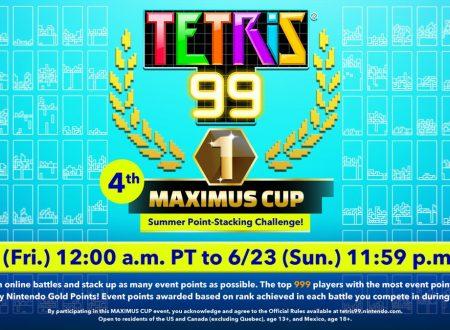 Tetris 99: svelato l'arrivo della quarta Maximus Cup con in palio dei punti d'oro di My Nintendo