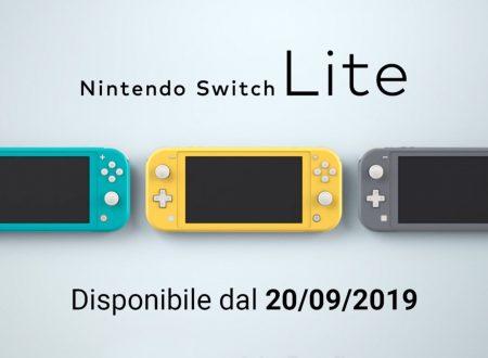 Annunciato ufficialmente l'arrivo del Nintendo Switch Lite il 20 settembre