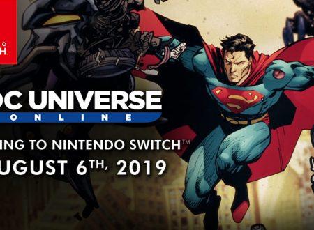 DC Universe Online: il free-to-play è in arrivo il 6 agosto sull'eShop di Nintendo Switch