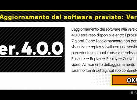 Super Smash Bros. Ultimate: svelato l'arrivo imminente della versione 4.0.0