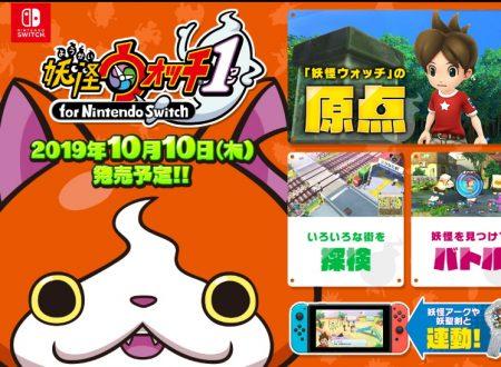 Yo-kai Watch: il titolo è in arrivo il 10 ottobre sui Nintendo Switch giapponesi