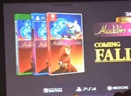 Aladdin e The Lion King: le remastered dei due classici sono in arrivo ad ottobre su Nintendo Switch