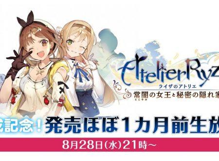 Atelier Ryza: Ever Darkness & the Secret Hideout, annunciato un livestream ad un mese dal rilascio il 28 agosto