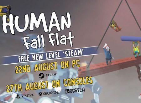 Human: Fall Flat, annunciato l'arrivo del livello Steam il prossimo 27 agosto