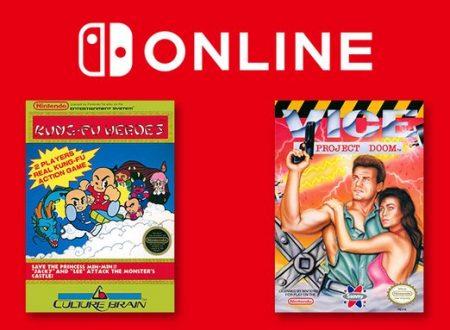 Nintendo Switch Online: Kung-Fu Heroes e Vice: Project Doom sono in arrivo il 21 agosto