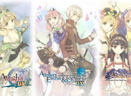 Atelier Dusk Trilogy Deluxe Pack è in arrivo il 25 dicembre sui Nintendo Switch giapponesi