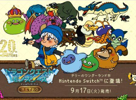 Dragon Quest Monsters: Terry's Wonderland Retro, il titolo è in arrivo il 17 settembre sui Nintendo Switch giapponesi
