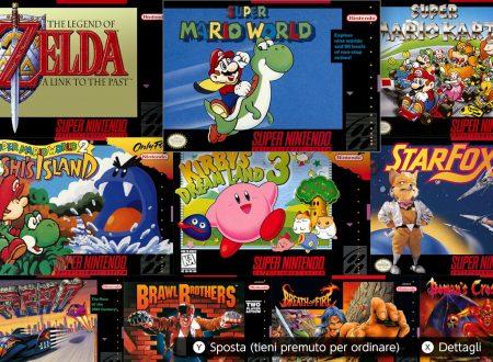 Nintendo Switch Online: l'app dei titoli Super Nintendo è ora disponibile