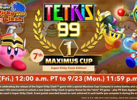 Tetris 99: svelato l'arrivo del settimo Grand Prix a tema Super Kirby Clash