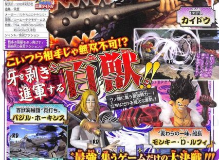 One Piece: Pirate Warriors 4, il titolo aggiungerà al cast Basil Hawkins, oltre al boss Kaido