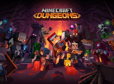 Minecraft Dungeons: il titolo aggiornato alla versione 1.9.3.0 su Nintendo Switch