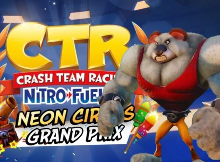 Crash Team Racing Nitro-Fueled: uno sguardo in video al Neon Circus Grand Prix con Koala Kong