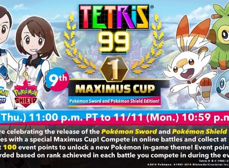 Tetris 99: svelato l'arrivo del nono Grand Prix a tema Pokèmon Spada e Scudo