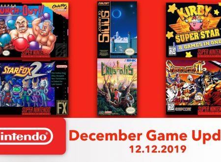 Nintendo Switch Online: annunciato l'arrivo di 6 titoli tra SNES e NES il 12 dicembre