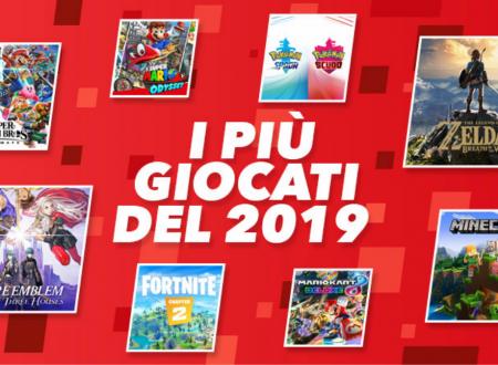 Nintendo Switch: rivelati i 20 titoli più giocati nel 2019 sulla console