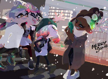Splatoon 2: pubblicate delle speciali illustrazioni natalizie da Nintendo
