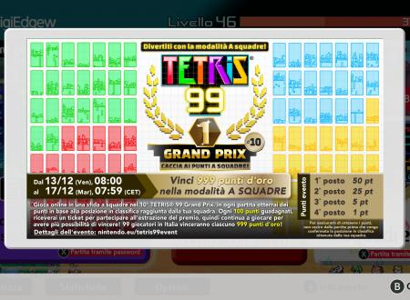Tetris 99: svelato l'arrivo del decimo Grand Prix, Caccia ai punti a squadre!