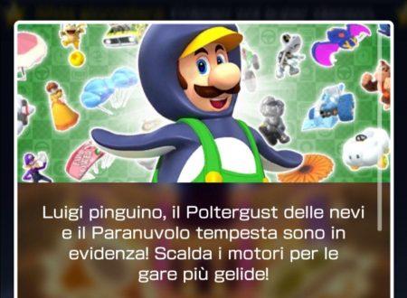 Mario Kart Tour: ora disponibile il secondo tubo in evidenza con Luigi pinguino
