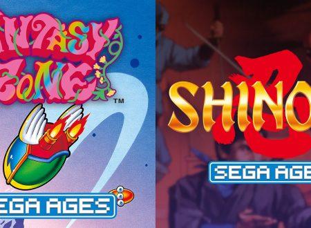 Sega Ages Fantasy Zone e Shinobi in arrivo il 23 gennaio sui Nintendo Switch europei