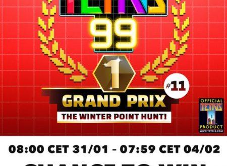 Tetris 99: svelato l'undicesimo Grand Prix, in arrivo il 30 gennaio prossimo