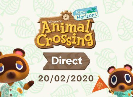 Annunciato l'arrivo di un nuovo Nintendo Direct su Animal Crossing: New Horizons il 20 febbraio