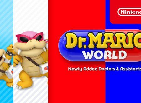 Dr. Mario World: pubblicato un nuovo trailer dedicato a Dr. Roy e Dr. Larry