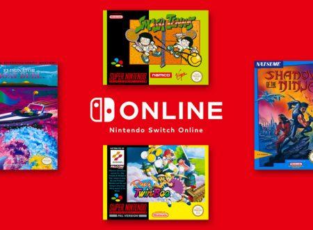 Nintendo Switch Online: annunciato l'arrivo di quattro nuovi titoli tra SNES e NES il 19 febbraio