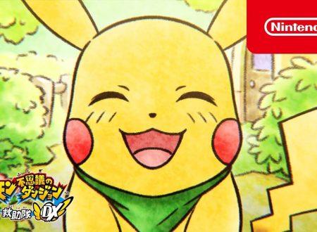 Pokémon Mystery Dungeon: Squadra di Soccorso DX: pubblicati tre video promozionali giapponesi
