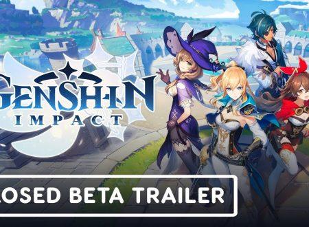 Genshin Impact: pubblicato un trailer dedicato all'arrivo della Closed beta