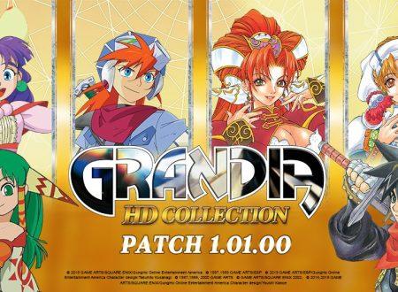 Grandia HD Collection aggiornata alla versione 1.01.00 sui Nintendo Switch europei