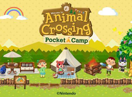 Animal Crossing: Pocket Camp, il titolo aggiornato alla versione 3.2.0 su iOS e Android