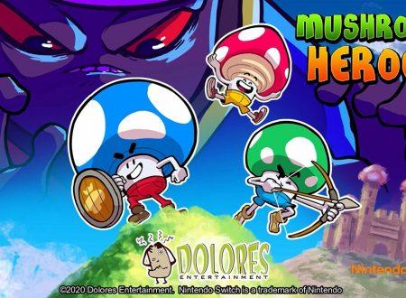 Mushroom Heroes: il titolo in arrivo il 30 aprile sull'eShop di Nintendo Switch
